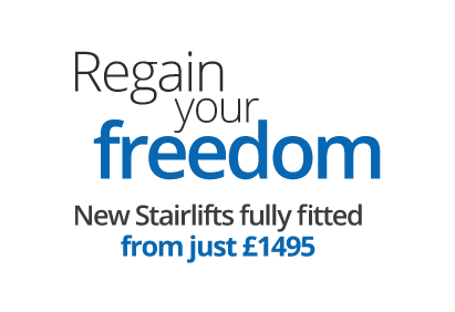 Regain your freedom - New Stairlifts fully fitted from just £1495